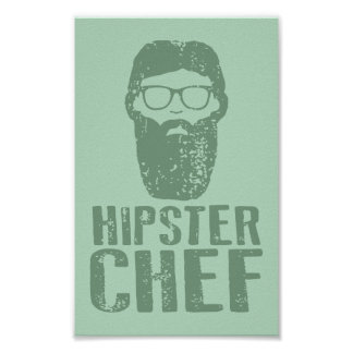 Hipster Chef Poster