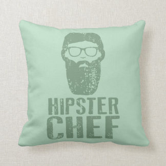Hipster Chef Throw Pillow