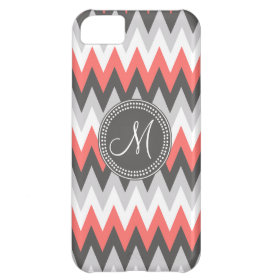 Hipster Chevron Monogram Pattern iPhone 5C Cover