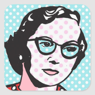 Hipster Chic Retro Pop Art Stickers