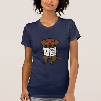 Hipster Chocolate Labrador Puppy Shirts