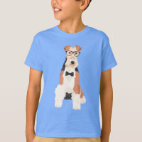 Hipster Cool Fox Terrier Wire Dog for Dog Lovers T-Shirt