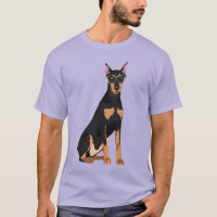 Hipster Cool German Pinscher Dog for Dog Lovers T-Shirt