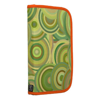 Hipster Cool Green Abstract Circles Pattern Folio Planners