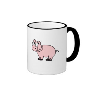 Hipster cool sow piglet coffee mugs