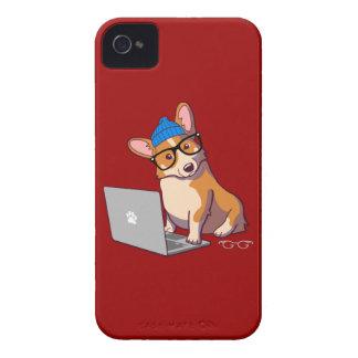 Hipster Corgi 2 Case-Mate iPhone 4 Cases