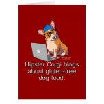 Hipster Corgi 2 Greeting Card