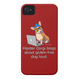 Hipster Corgi 2 iPhone 4 Case-Mate Cases