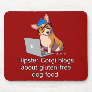 Hipster Corgi 2 Mouse Pad