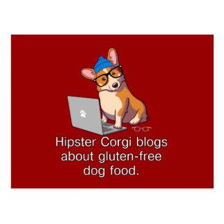 Hipster Corgi 2 Postcard