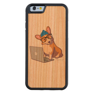 Hipster Corgi 2 (without text) Carved® Cherry iPhone 6 Bumper