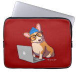 Hipster Corgi 2 (without text) Computer Sleeves