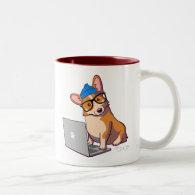 Hipster Corgi 2 (without text) Mug