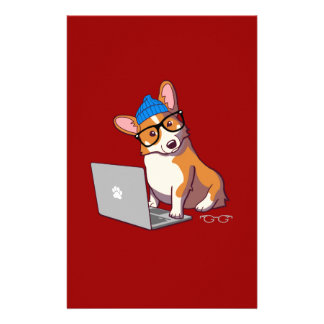 Hipster Corgi 2 (without text) Stationery