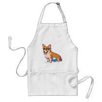 Hipster Corgi Aprons (without text)