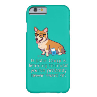 Hipster Corgi Barely There iPhone 6 Case