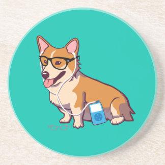 Hipster Corgi Coaster (without text)
