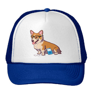 Hipster Corgi Hat (without text)