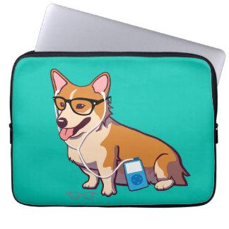 Hipster Corgi Laptop Sleeve (without text)
