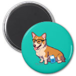 Hipster Corgi Magnet (without text)