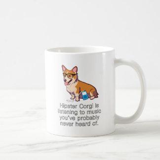 Hipster Corgi Classic White Coffee Mug