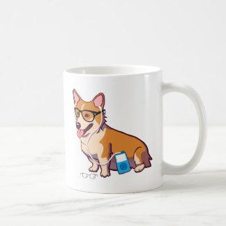 Hipster Corgi (without text) Classic White Coffee Mug