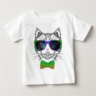 Hipster Cosmos Cat Kitten Space Tee Shirt