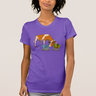 Hipster Cow Tee Shirt