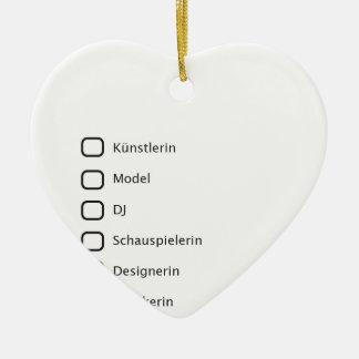 Hipster creativas adorno navideño de cerámica en forma de corazón