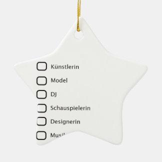 Hipster creativas adorno navideño de cerámica en forma de estrella