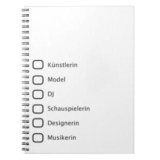 Hipster creativas cuaderno