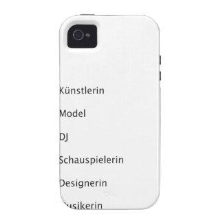 Hipster creativas Case-Mate iPhone 4 funda