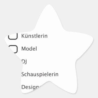 Hipster creativas pegatina en forma de estrella