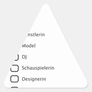 Hipster creativas pegatina triangular