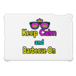Hipster Crown  Keep Calm And Barbeque On iPad Mini Cases