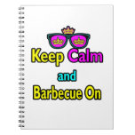 Hipster Crown  Keep Calm And Barbeque On Notebooks