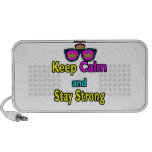Hipster Crown Sunglasses Keep Calm And Stay Strong iPhone Speaker