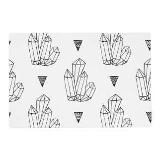 Hipster Crystals Doodle Placemat