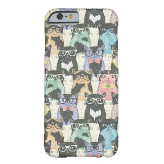 Hipster Cute Cats Pattern Barely There iPhone 6 Case