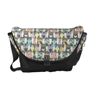 Hipster Cute Cats Pattern Courier Bag
