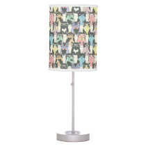 Hipster Cute Cats Pattern Desk Lamp