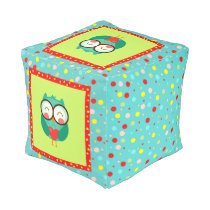 Hipster Cute Owl Pouf