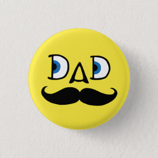 Hipster Dad Pinback Button