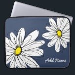 "Hipster Daisy Drawing in trendy colors Laptop Sleeve<br><div class=""desc"">Add your name to this mod gift! Daisy flowers are for hipsters!</div>"