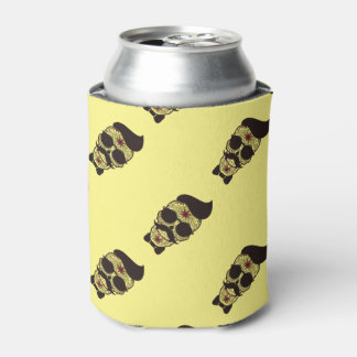 Hipster Day of the Dead Skull Can Cooler