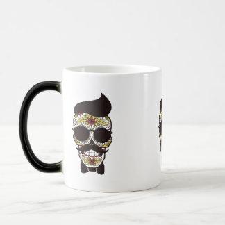 Hipster Day of the Dead Skull Magic Mug