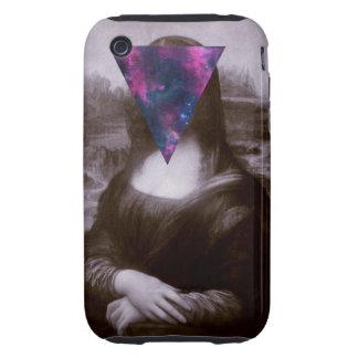 Hipster. de Mona Lisa iPhone 3 Tough Cárcasas