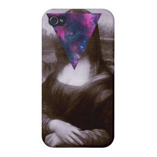 Hipster. de Mona Lisa iPhone 4 Cárcasa