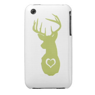 HIPSTER DEER HEAD WITH HEARTS Case-Mate iPhone 3 CASE