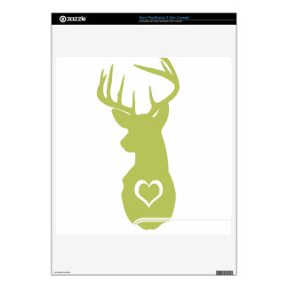 HIPSTER DEER HEAD WITH HEARTS PS3 SLIM SKIN